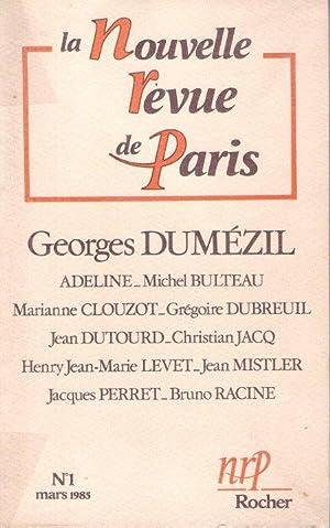 La Nouvelle Revue de Paris n° 1: DUMEZIL Georges ,