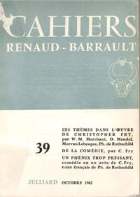 Cahiers Renaud - Barrault N° 39 : Collectif