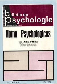 Bulletin De Psychologie N° 287 Tome XXIV: COHEN John