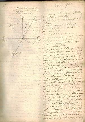 Rare original 18th century Italian manuscript on astronomy.: [ORIANI, BARNABA]