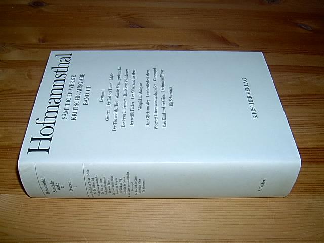 Dramen 1 (= Gestern - Der Tod: Hugo von Hofmannsthal: