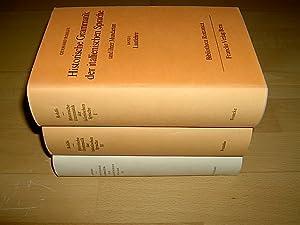 Historische Grammatik der italienischen Sprache und ihrer: Rohlfs, Gerhard: