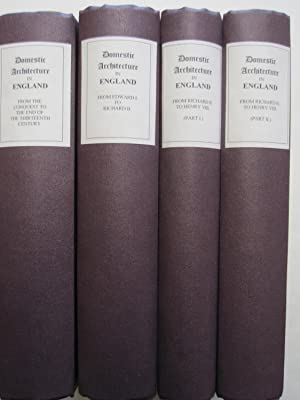 Some Account of Domestic Architecture in England (4 Volumes)