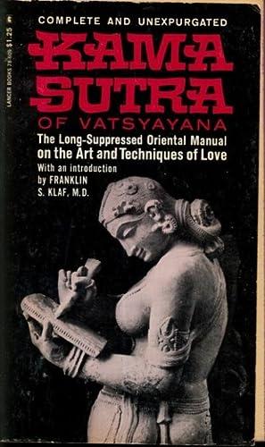 Kama Sutra of Vatsyayana Lancer 78-609: No Author Indicated