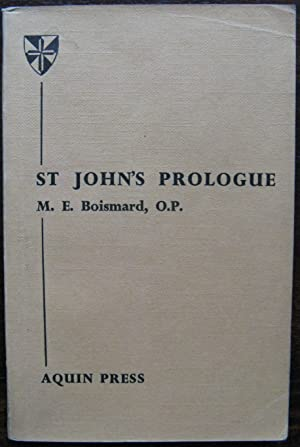 ST. John's Prologue by M. E. Boismard. 1957. 1st UK Edition