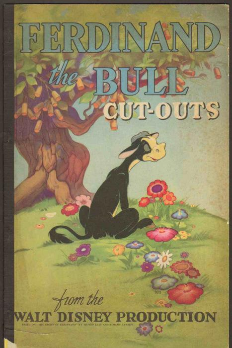 Ferdinand the Bull Cut-outs from the Walt Disney Production.: Munro Leaf, Robert Lawson & Walt ...