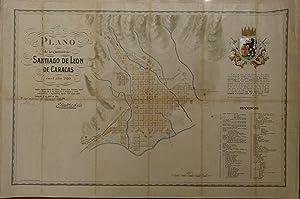 Plano de la ciudad de Santiago de León de Caracas en el año 1810 según ...