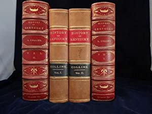 History of Kentucky. Revised & enlarged edition in fine tooled morocco cases.: Collins, Lewis &...