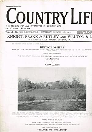 Country Life Magazine March 18th. 1922