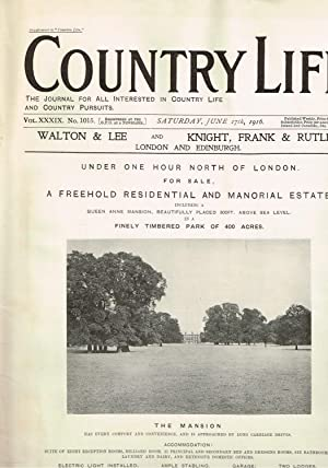 Country Life Magazine June 17th. 1916
