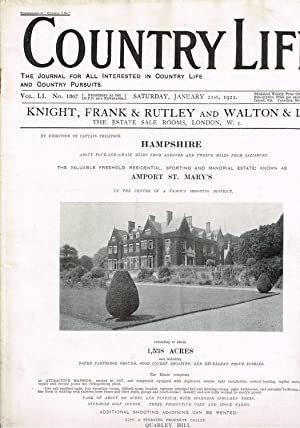 Country Life Magazine. Jan.21st. 1922