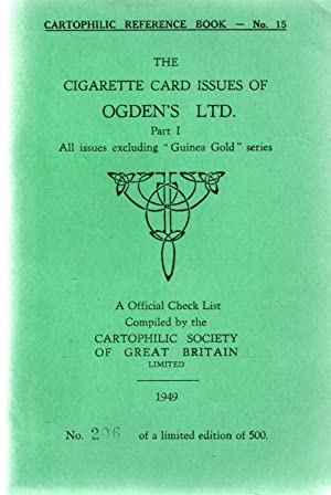 Cartophilic Reference Book No.15.The Cigarette Card Issues of:- Ogden's Ltd.