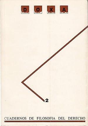 DOXA. Nº 2: BOBBIO, NORBERTO; GONZÁLEZ VICÉN, FELIPE; PATTARO, ENRICO