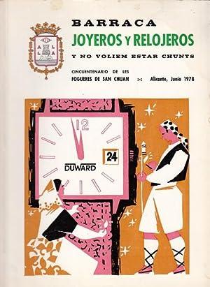 LLIBRET BARRACA JOYEROS Y RELOJEROS, Y NOVOLIEM: MARTÍNEZ BLANQUER, JUAN;