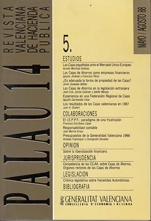 PALAU 14 Nº 5 (Las cajas españolas: MARTÍNEZ ESTÉVEZ, AURELIO;