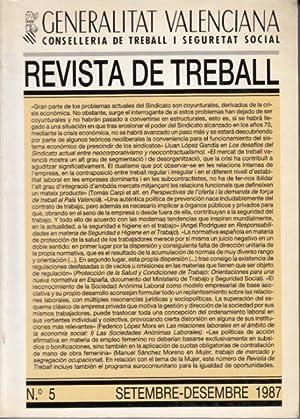 REVISTA DE TREBALL Nº 5 (Las sociedades: LÓPEZ MORA, FEDERICO