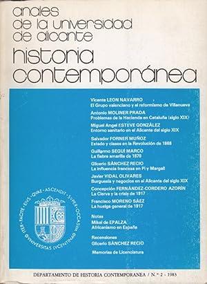 ANALES DE LA UNIVERSIDAD DE ALICANTE. HISTORIA: LEÓN NAVARRO, VICENTE;