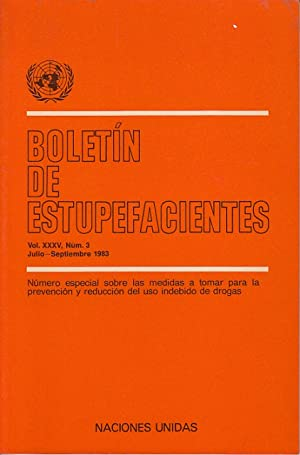 BOLETÍN DE ESTUPEFACIENTES VOL. 35. Nº 3: AVICO, U.; INGOLD,