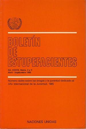 BOLETÍN DE ESTUPEFACIENTES VOL. 37. Nº 2-3 (El uso de drogas entre los adolescentes de ...