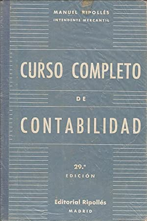 MANUAL COMPLETO DE CONTABILIDAD: RIPOLLÉS VAQUER, MANUEL