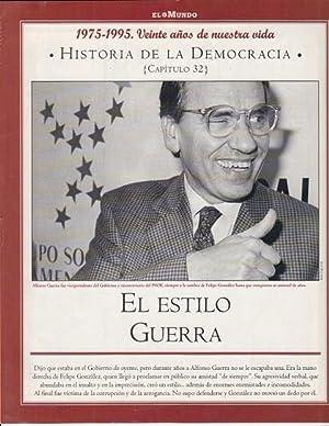 HISTORIA DE LA DEMOCRACIA. 1975-1995. VEINTE AÑOS: RICO, MANUEL ANTONIO;