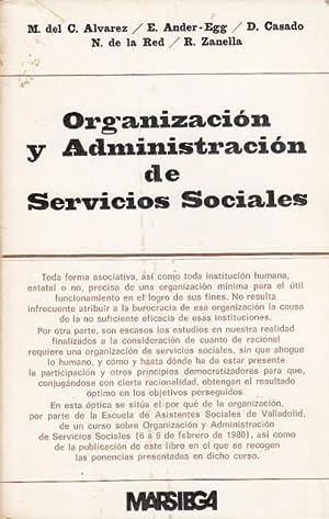 ORGANIZACIÓNY ADMINISTRACIÓN DE SERVICIOS SOCIALES: ÁLVAREZ, M DEL