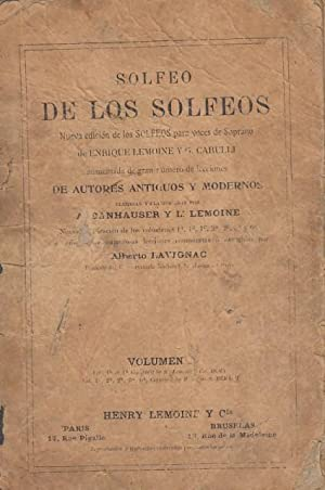 SOLFEGE DES SOLFEGES. NOUVELLES EDITION DU SOLFEGE: LEMOINE,HENRY; CARULLI, G