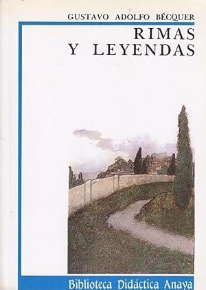 Rimas Y Leyendas De Gustavo Adolfo Becquer Iberlibro