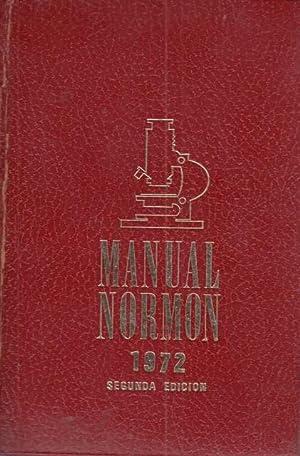 MANUAL NORMON 1972: MARTÍN NICLOS, J.;