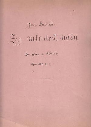 Za Mladost Nasu, Za Glas i Klavir: ANDRIC, Josip