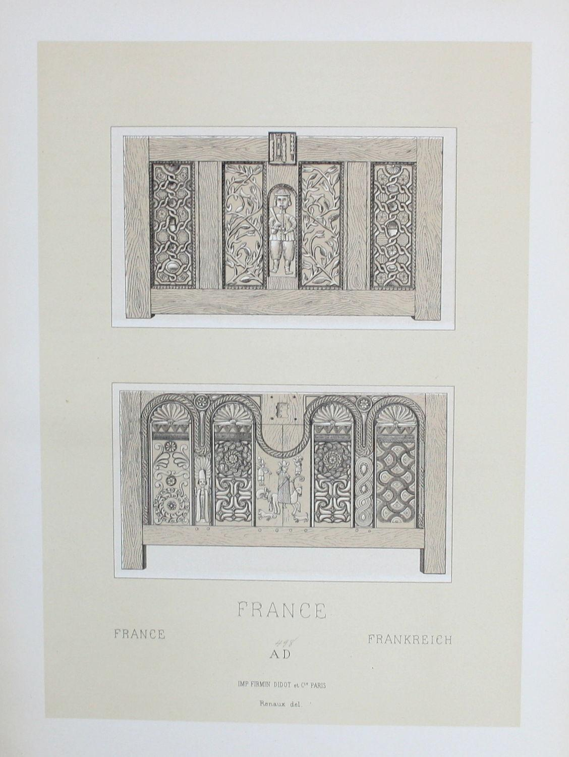 france frankreich mobel furniture lithographie lithograph