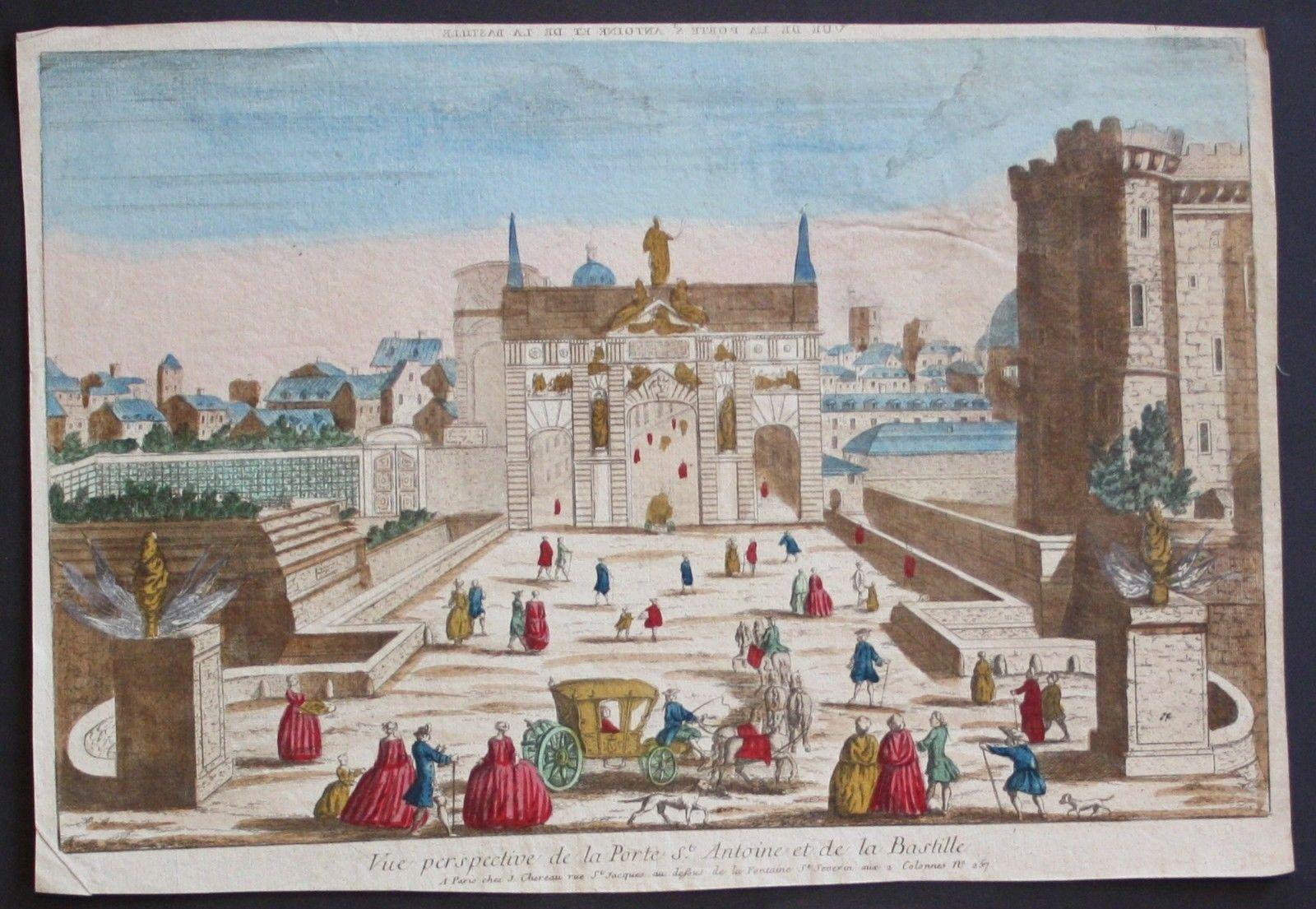 Paris guckkastenblatt zvab for Porte saint antoine