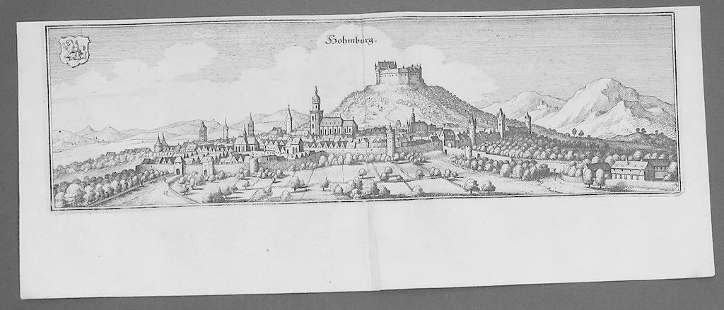 Homberg a. d. Efze Original Kupferstich Merian