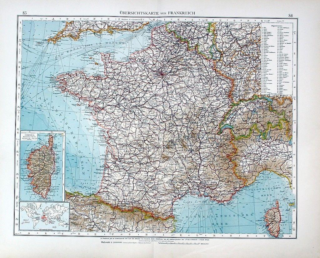Karte Paris.Frankreich France Paris Orleans Karte Carte