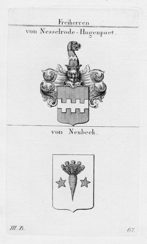 Nesselrode Hugenpoet Neubeck Wappen Adel coat of