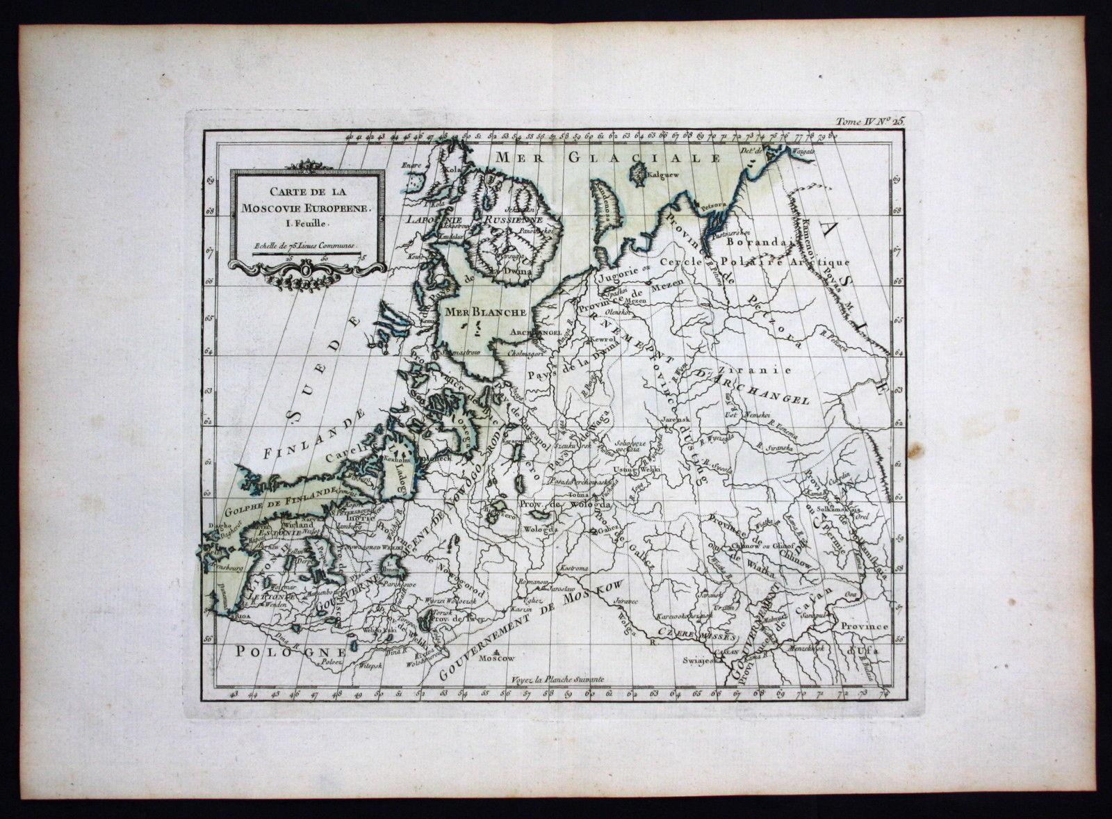 Moskau Moscow Russia Russland Bellin Karte map carte engraving ...