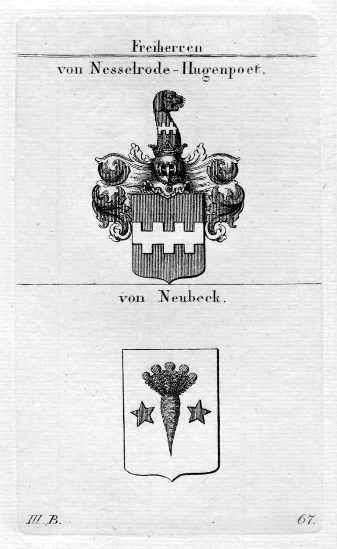 Nesselrode Hugenpoet Neubeck - Wappen Adel coat