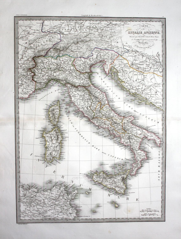 Carte De L Italie Ancienne Italia Sicilia Sardegna Corse Italy