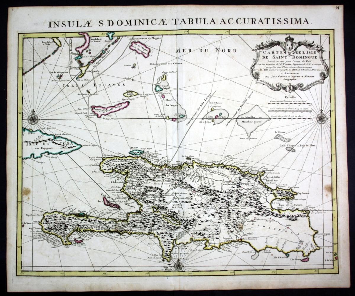 Haiti Karte.Carte De L Isle De Saint Domingue Hispaniola Haiti Dominican
