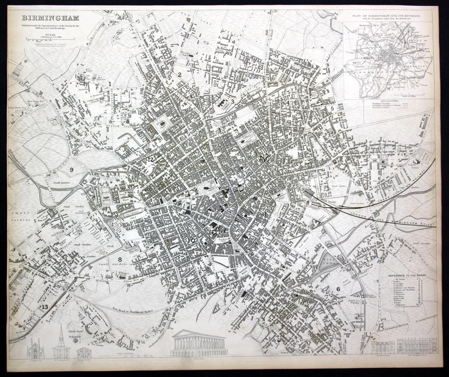 Birmingham Karte.Birmingham