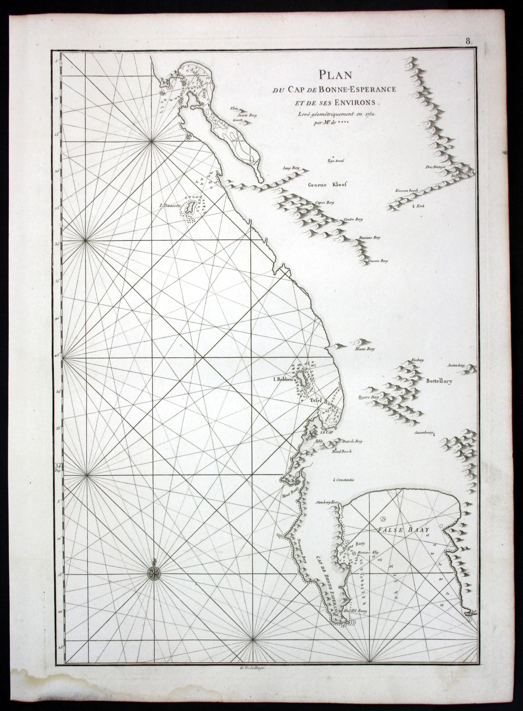 Plan du Cap de Bonne-Esperance et de ses ...