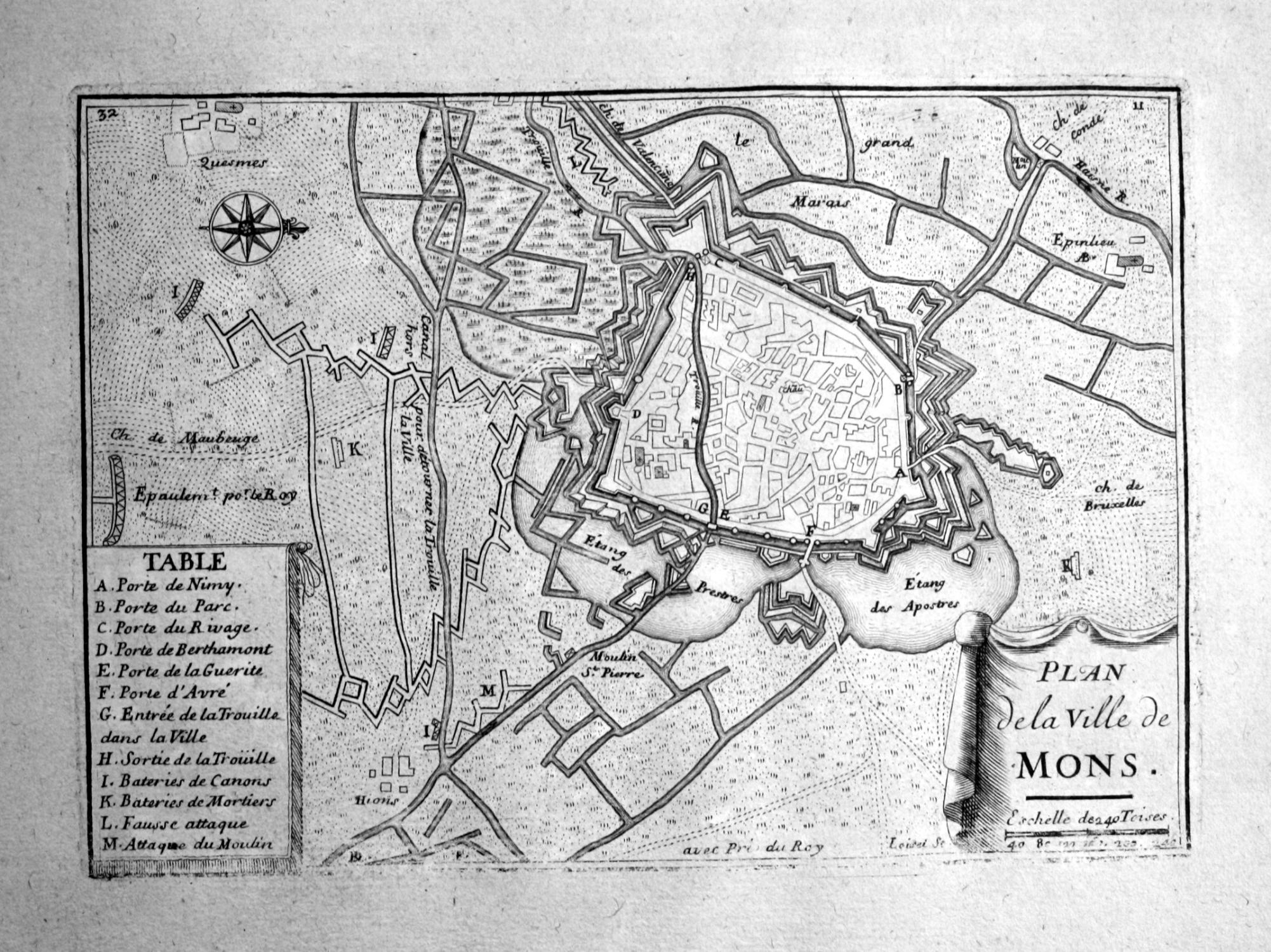 Carte Belgique Mons.Plan De La Ville De Mons Mons Hainaut Belgique Plan Carte Map