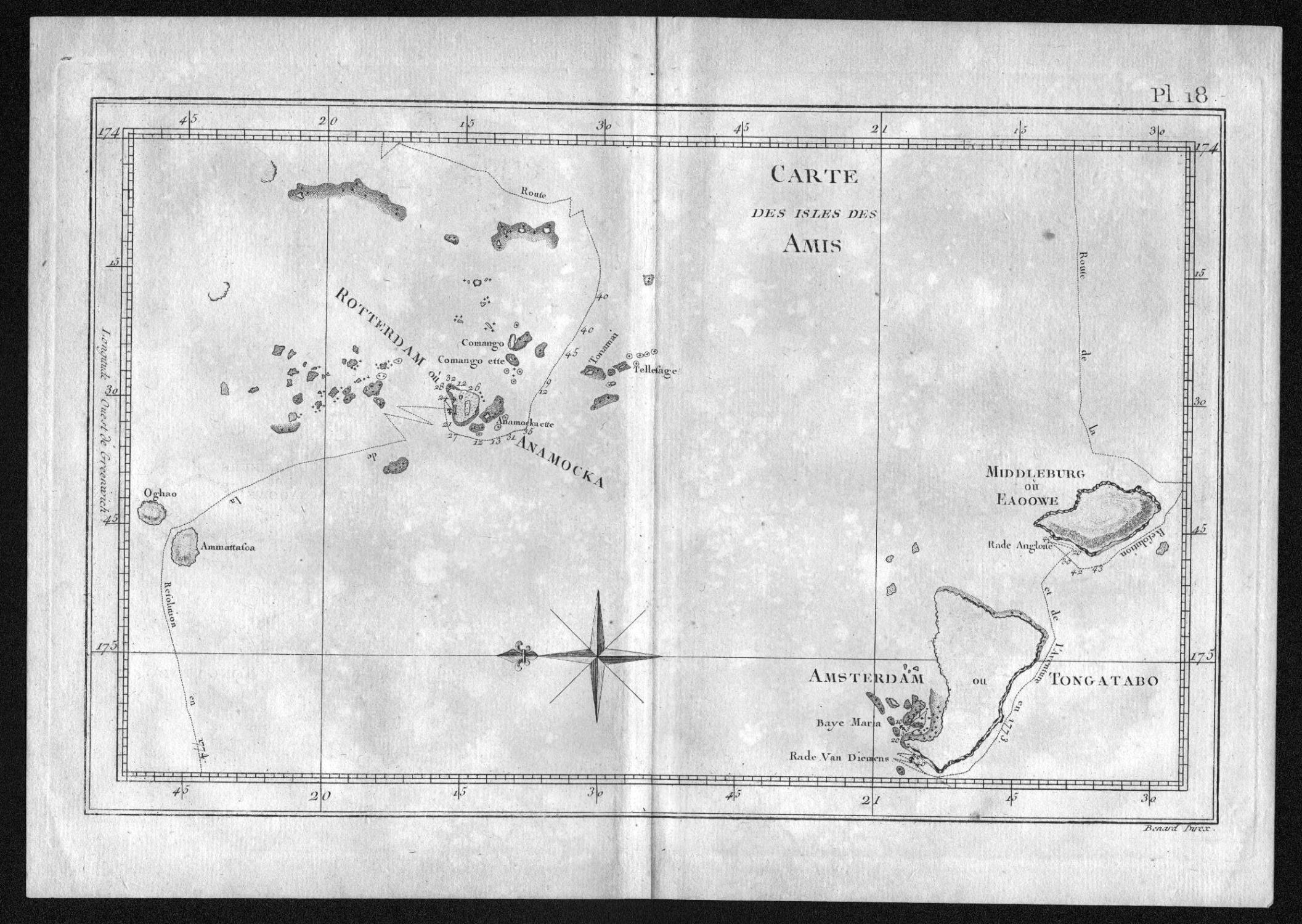 "Carte des Isles des Amis"" - Tonga: Cook, James:"