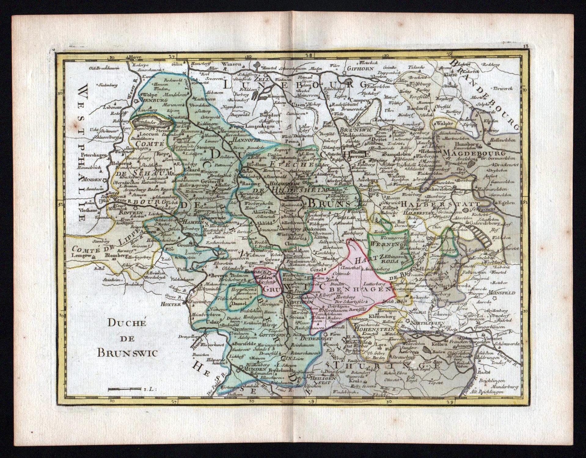 Nordhausen Karte.Duche De Brunswic