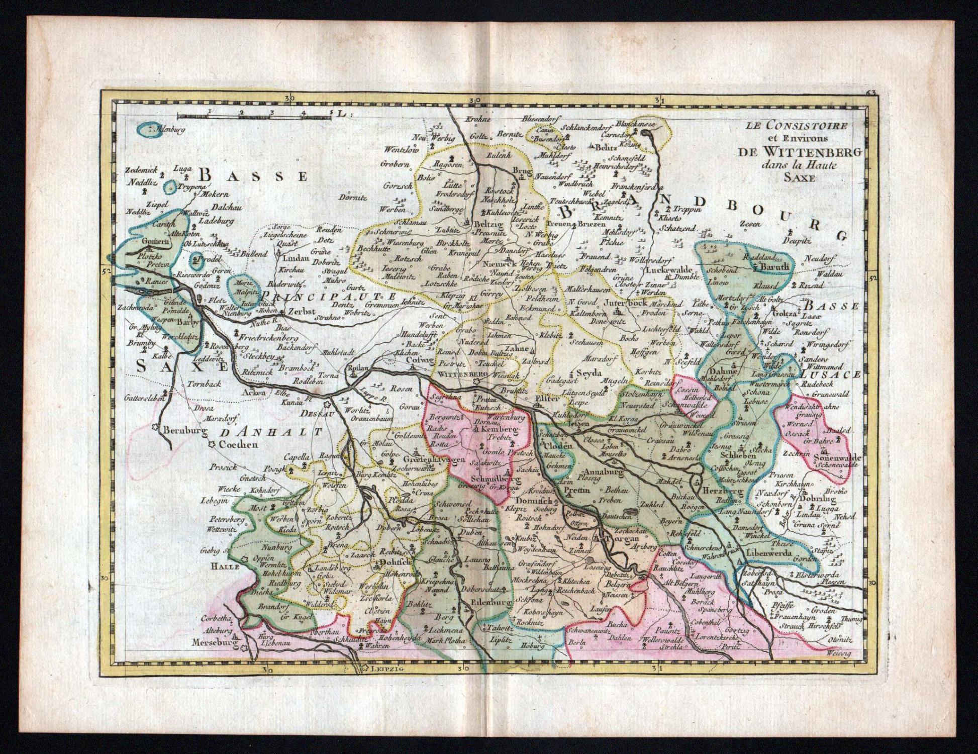 Halle Saale Karte.Le Consistoire Et Environs De Wittenberg