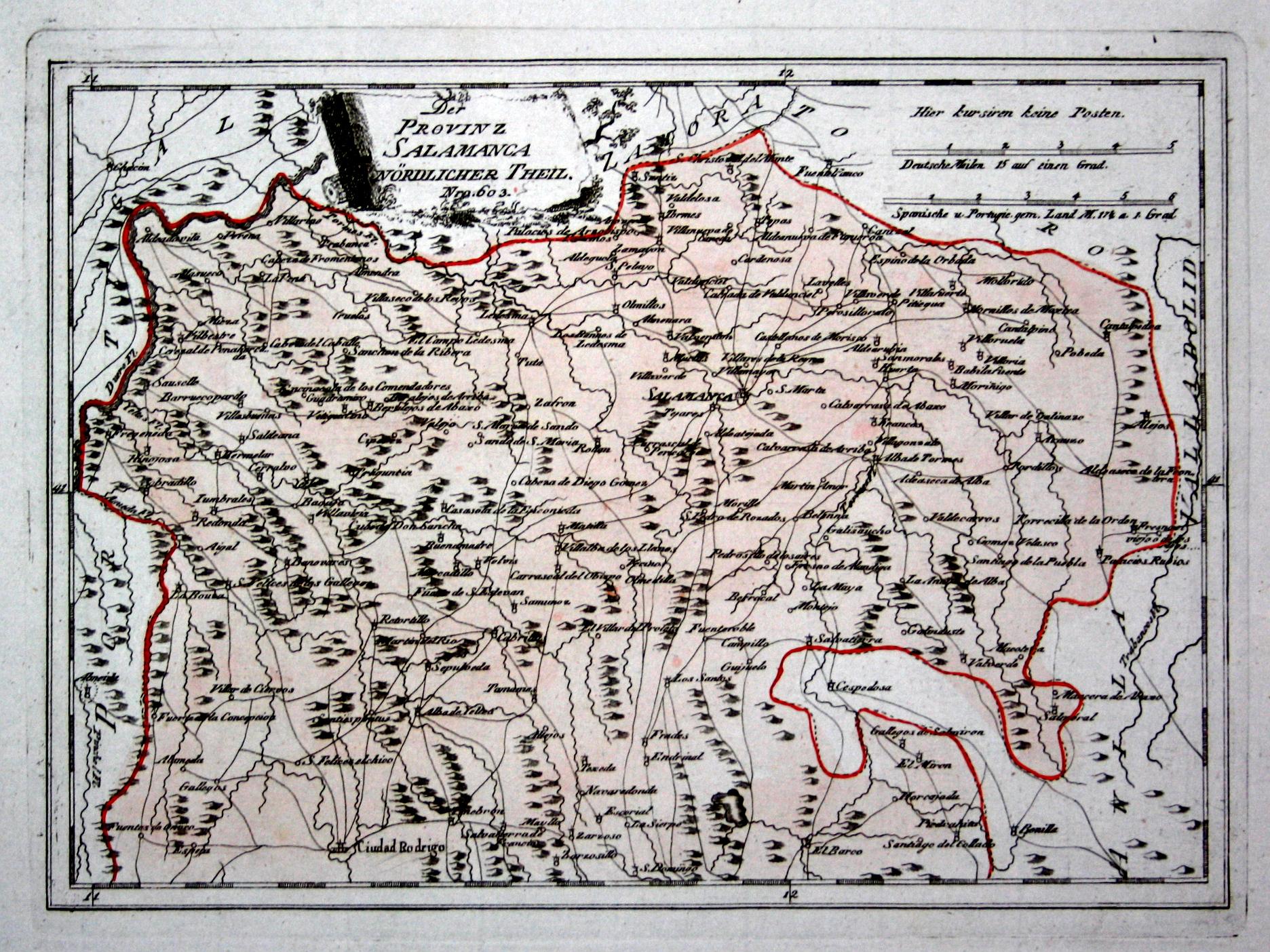 Salamanca Spanien Karte.Der Provinz Salamanca Nördlicher Theil