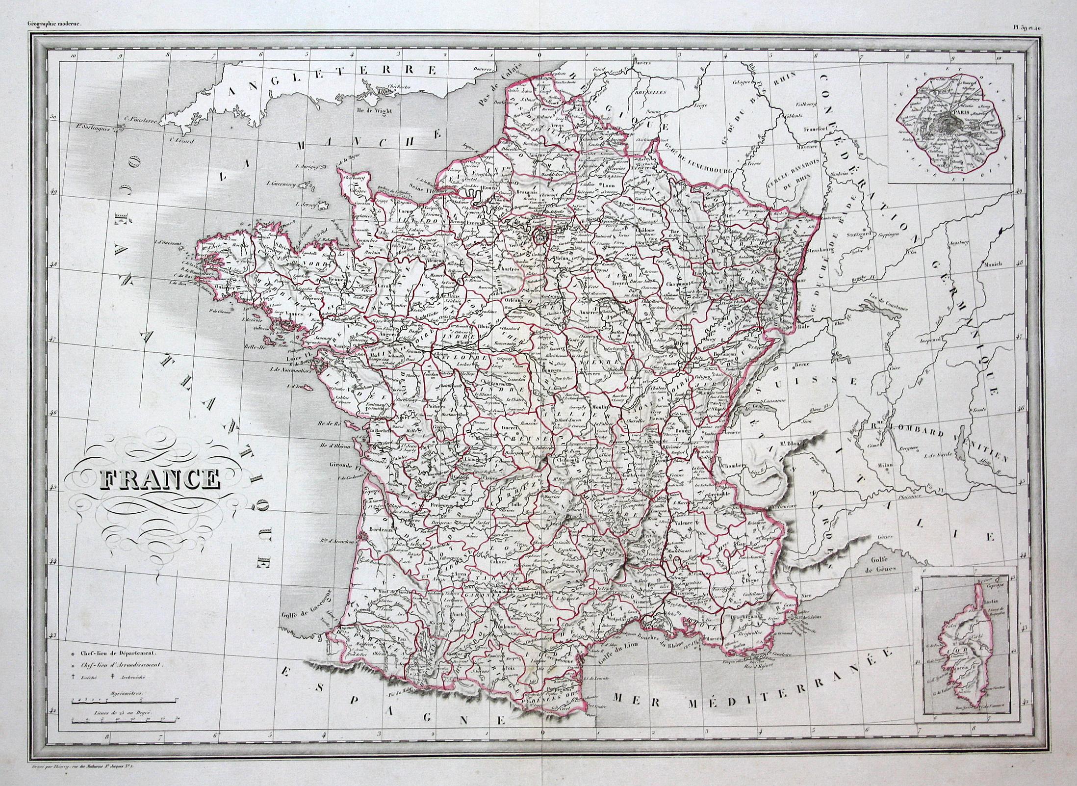 Karte Italien Frankreich.France