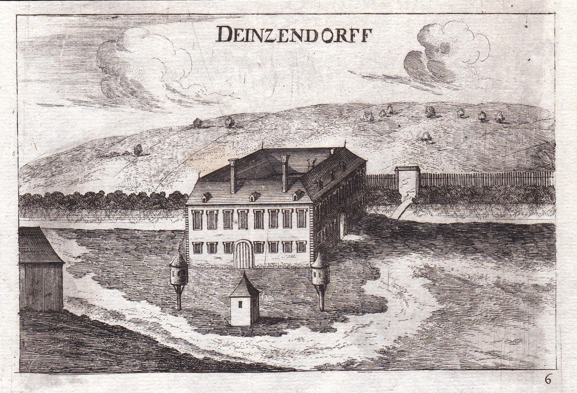Ansichten & Landkarten Bilder & Drucke 1672 Schloss Rosenau Zwettl Niederösterreich Kupferstich Antique Print Vischer