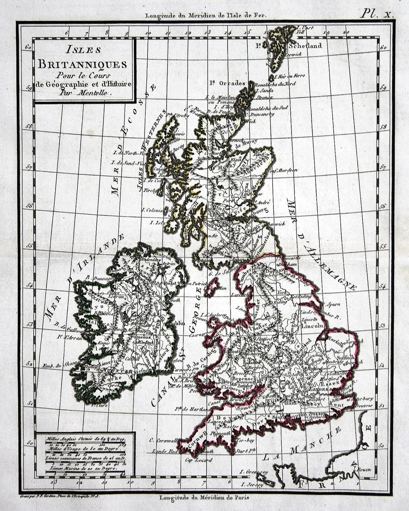 Karte London.Isles Britanniques