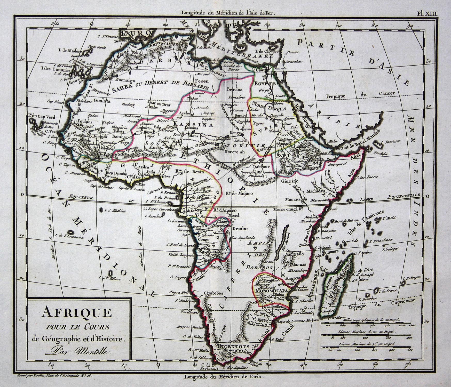 Madagaskar Karte.Afrique